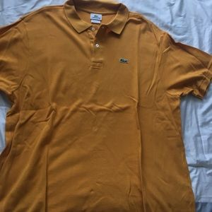 Mustard color men's Lacoste polo